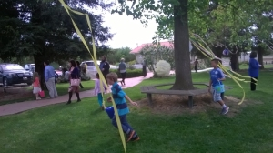 "Some of our younger ""cells"" in action at our Easter Egg hunt a few weeks back."