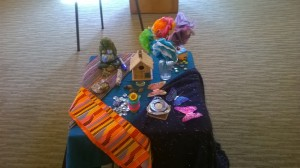 The altar co-created at the Board retreat, with Board members contributing special objects from their lives.